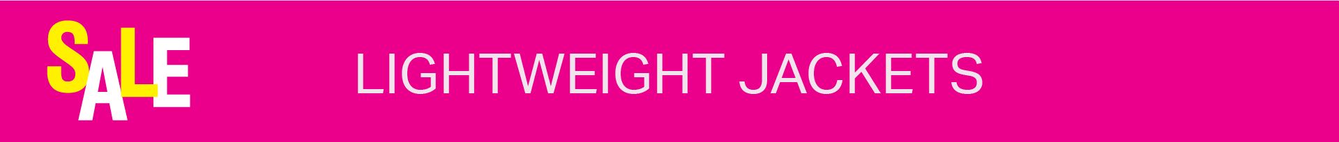SALE: LIGHTWEIGHT JACKETS