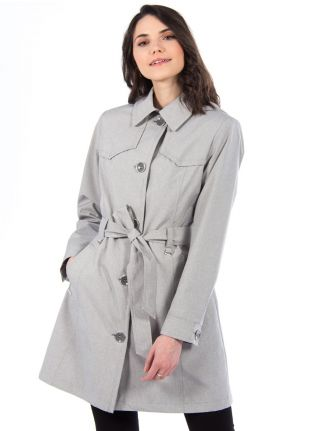 Belted trench coat by Saki