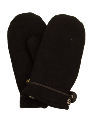 Suede leather mitt with cozy fingers by Auclair
