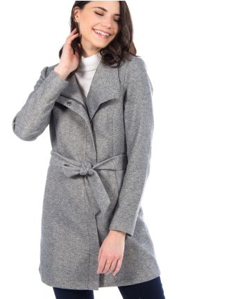 Long coat with high collar by Only