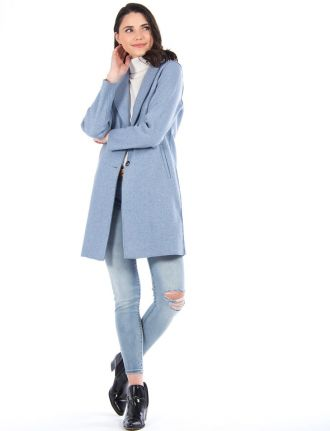 Long coat with notch collar by Only